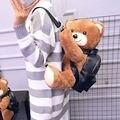 Teddy bear mochila moda mochilas bonitos para meninas mochila de pelúcia animal dos desenhos animados mochila Anime mulheres mochila crianças saco