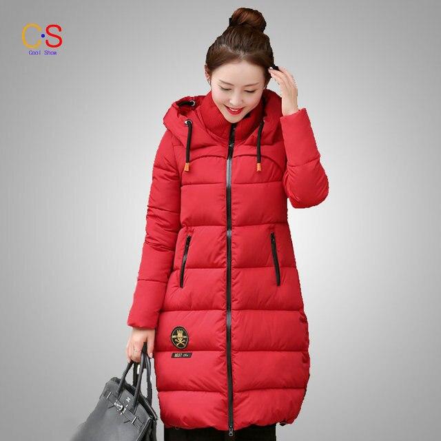 Мода Капюшоном Пальто Зимы Женщин Толстые Теплые Стеганые Куртки С Черепом Аппликации Леди Наряды Регулируемый Ремень Подол Верхней Одежды