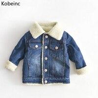 Kobeinc New Jacket For Girls Boys Autumn Winter Plus Cashmere Thicken Children Clothes Warm Fashion Baby