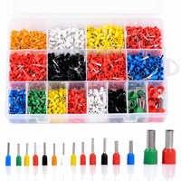 2120 stücke Insulated Cord Pin Ende Terminals Verzinnt Kupfer Crimp Stecker Aderendhülsen Kit Set Für 22-5AWG