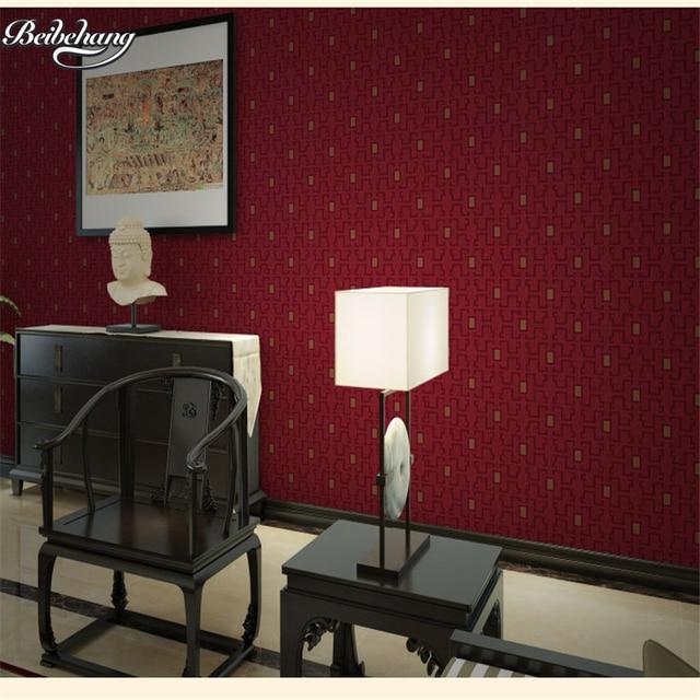 Beibehang Chinesischen Retro Reine Farbe PVC Wasserdichte Tapeten  Schlafzimmer Wohnzimmer Eigenschaften Restaurant Bars Tee Arbeitet Tapete