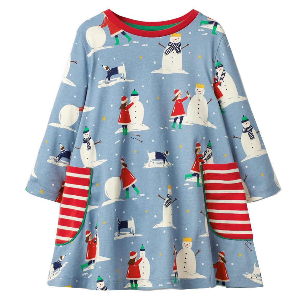 Платья для маленьких девочек; костюм принцессы; хлопковое детское платье трапециевидной формы с героями мультфильмов; Одежда для девочек; осенне-зимний костюм для детей