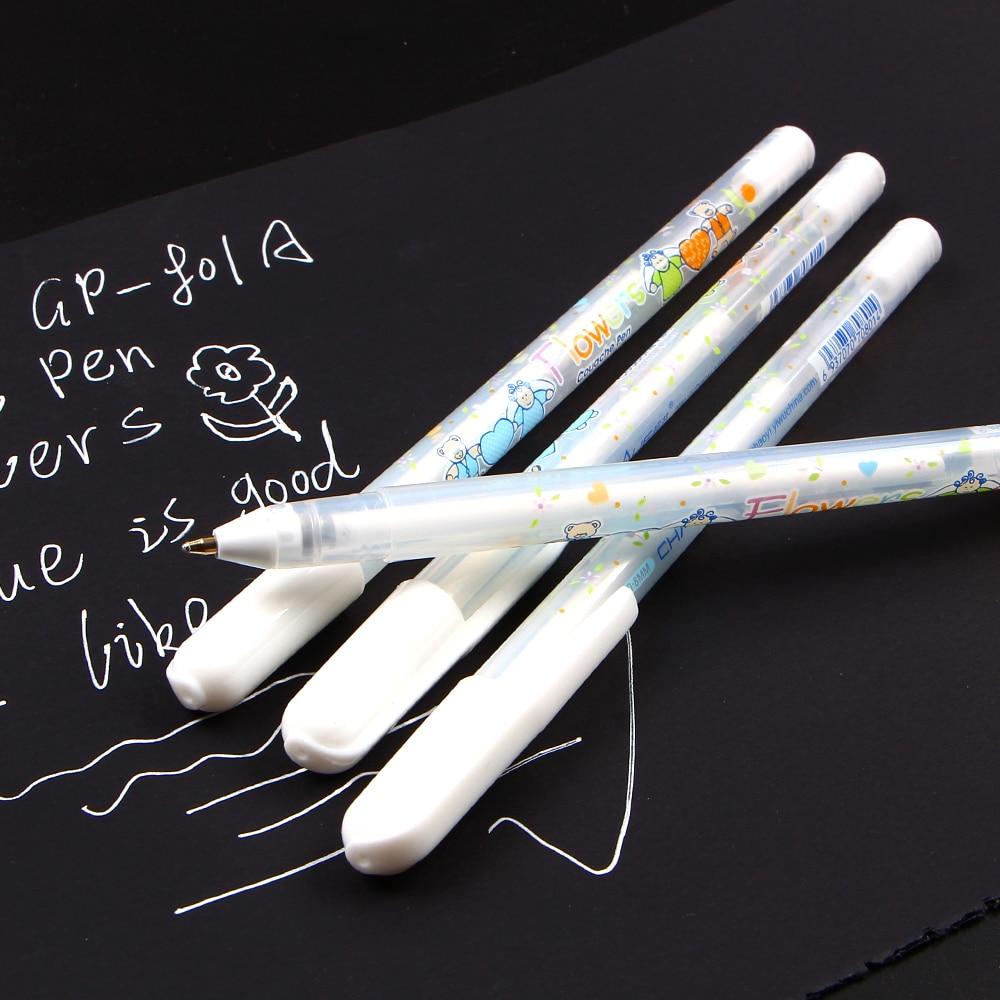 0,8 mm: n valkoinen musteväri valokuva-albumi geeli kynä - Kynät, lyijykynät ja kirjoitustarvikkeet - Valokuva 3
