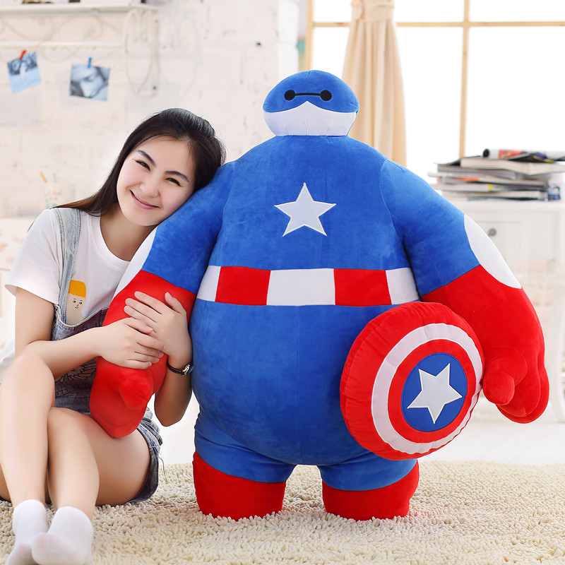 creative  toy  large Baymax turn to hero cute doll 100cm plush toy doll soft hugging pillow, birthday gift x057 stuffed animal 120 cm cute love rabbit plush toy pink or purple floral love rabbit soft doll gift w2226