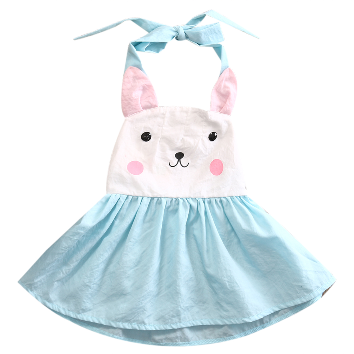 Toddler Kids Baby Girls Dress Cute Bunny Print Backless