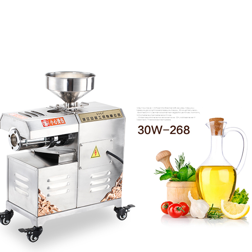 All Stainless Steel 220V Commercial Automatic Oil Press Machine Nuts Seeds Oil Pressure Machine   Cold Press Oil Machine