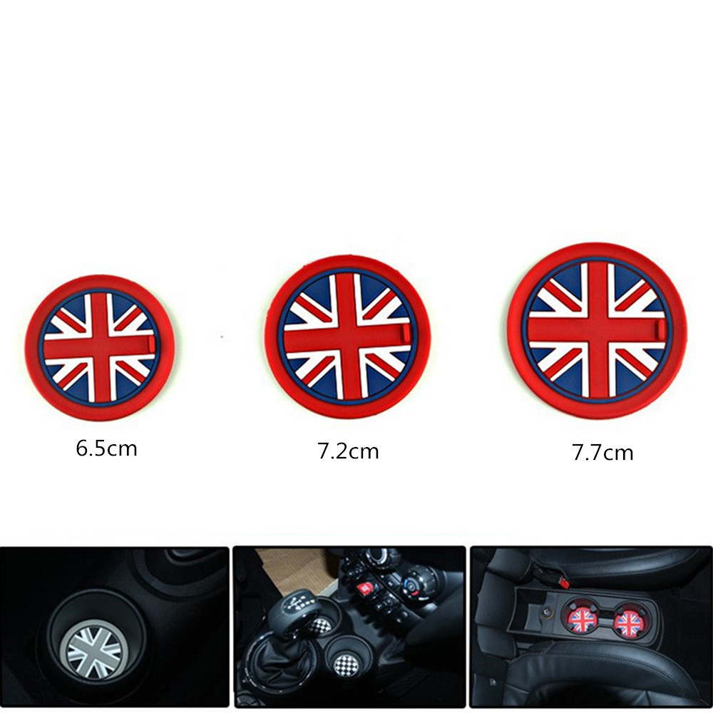 Non-slip Mat For Mini Cooper Cup Mat Car Styling Accessories SiliconNon Slip Pads R55 R56 R60 F55 F56 Countryman Clubman