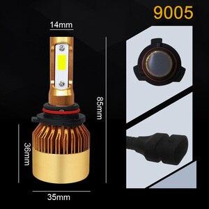 Image 5 - COOLFOX Auto Lichter LED H4 9003 9005 9006 H1 H3 H8 H11 H7 Led Canbus Fehler Freies Lampe Auto Scheinwerfer birne 20000lm 200W Weiß Licht