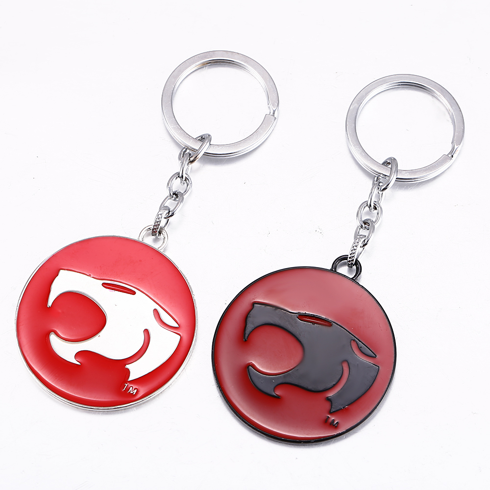 J Store Souvenir Thundercats Logo Keychain For Fans Chain 2 Colors Alloy Key Chain Key Ring Holder Jewelry Accessories Gift