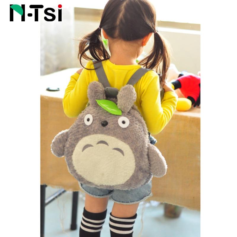 Totoro Plush Backpack For Kids Toddler New Cute Cartoon Stuffed Toy Kindergarten Children Outdoor Soft School Bag Boy Girl Gift