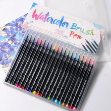 20 Color Premium Painting Soft Brush Pen Set Watercolor Markers Pen Art Effect Best For Coloring Books Manga Comic Calligraphy 171pages chinese coloring watercolor books for adults mori girl s art life personal watercolor lesson