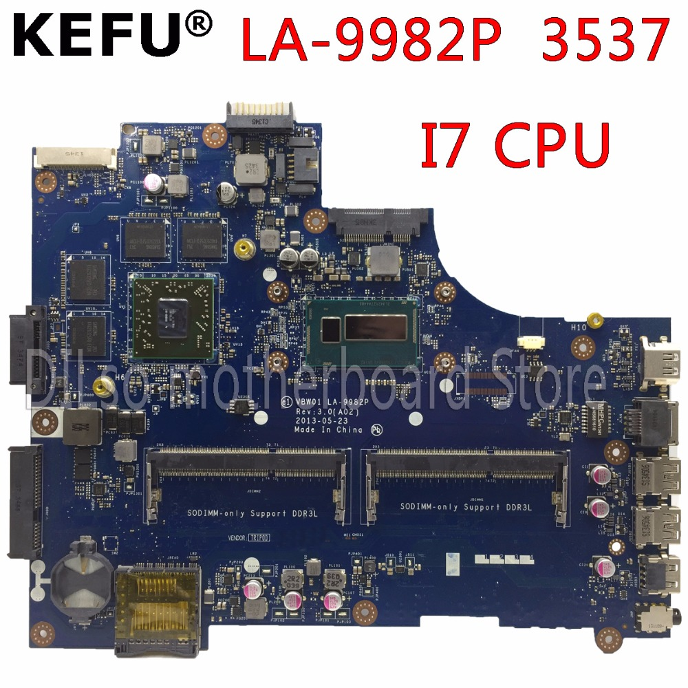все цены на KEFU LA-9982P motherboard For Dell 15R 3537 5537 Laptop motherboard I7 CPU PM original Test mainboard онлайн