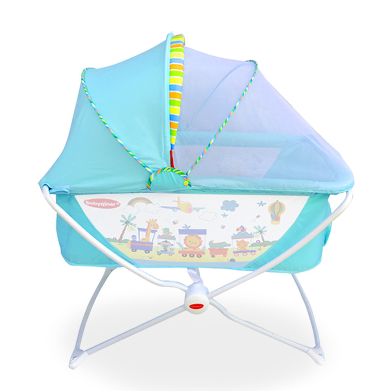 Multifunctional Portable Baby Shaker Crib Baby Cradle Foldable Game Bed With Mosquito Net Baby Rocker Baby Crib  0-24 Months
