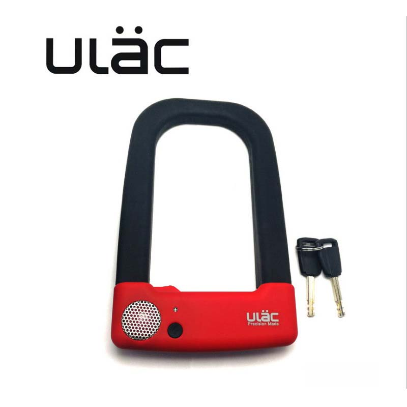 ULAC Bicycle Lock Anti-theft MTB Road Mountain Bike Steel U-lock Set with 2 Keys Motorcycle Accessories