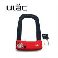 ULAC Fahrrad Lock Anti-diebstahl MTB Straße Mountainbike Stahl U-lock Set mit 2 Schlüssel Fahrrad Motorrad zubehör Bike Lock