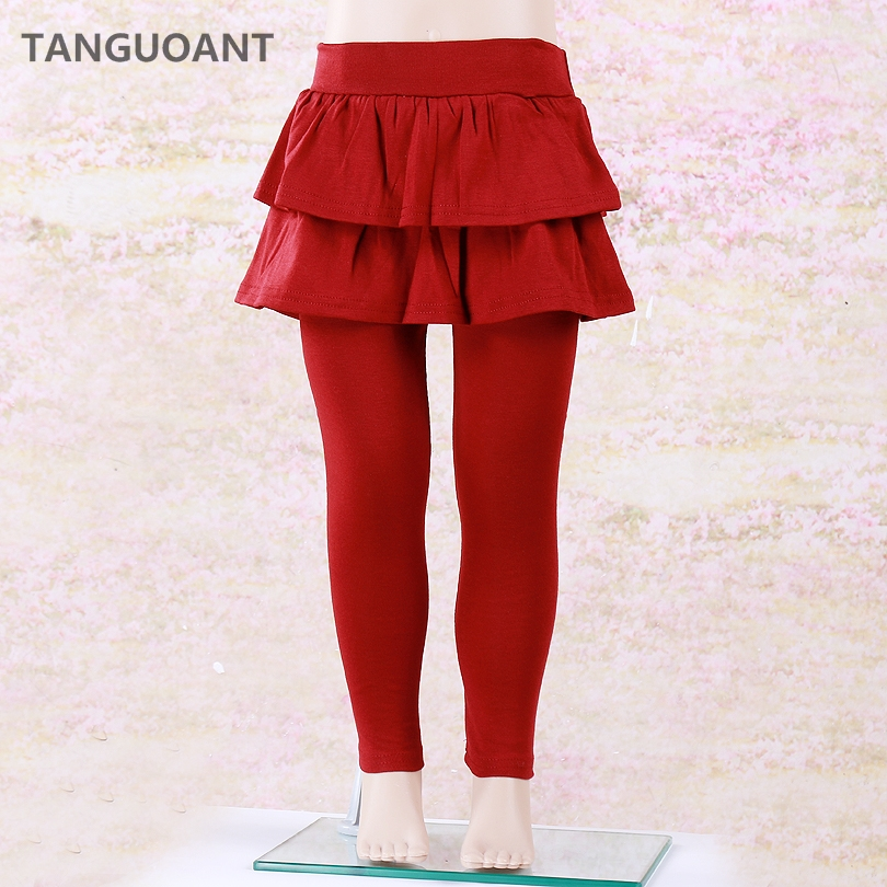 TANGUOANT Girls Skirt Pants Autumn Winter Girls Leggings with Skirt Girls Clothes Kids Trousers Children Leggings Pants for Girl artka autumn skirt for women 2018 winter women s wool skirt lolita short skirt for girls vintage plaid skirt mini saia qa10058q