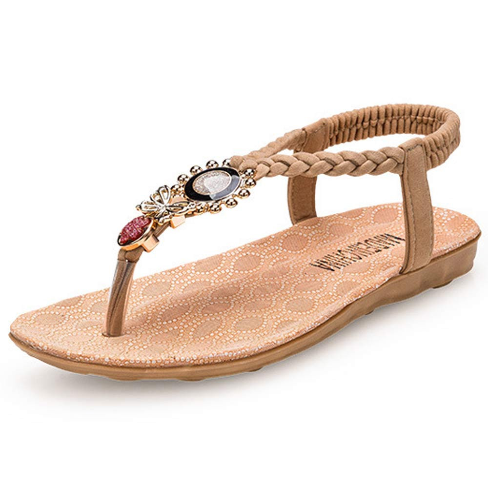 Brand new Summer Bohemia Sweet Beaded Sandals Women Clip Toe high quality Sandals Beach Shoes Outdoor Casual Female Fashion Gift 2016 fashion summer women flat beaded bohemia ppen toe flat heel sweet women students beach sandals o643