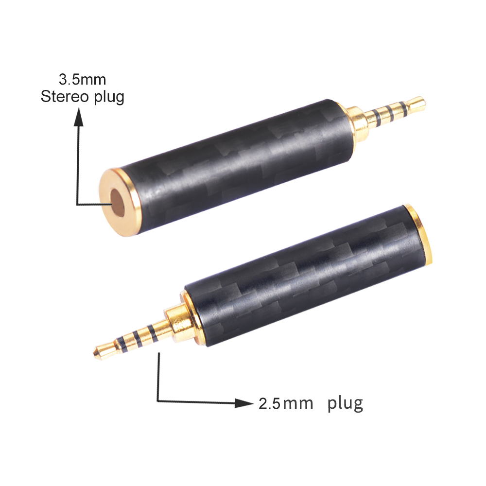 Image 2 - OKCSC Earphone Plug 4.4mm/3.5mm/2.5mm Male Adapter to 2.5mm/3.5mm Female Balanced Carbon Fiber Headphone DIY Accessory for SONY-in Earphone Accessories from Consumer Electronics