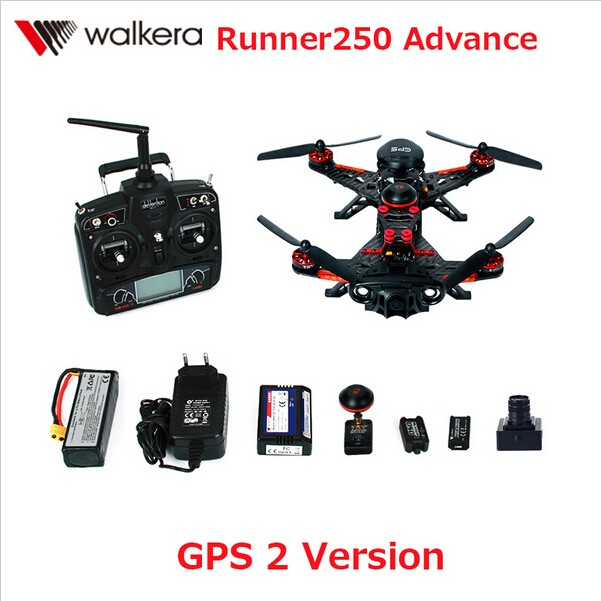 Walkera Runner 250 Advance with 1080P Camera Racer RC Drone Quadcopter RTF with DEVO 7 / OSD / Camera GPS 2 Version
