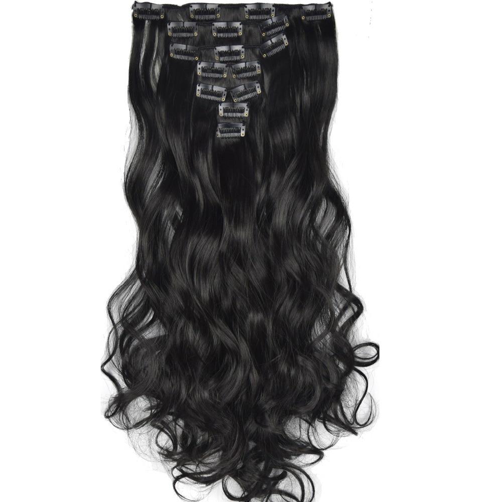 TOPREETY жаропрочные в5 синтетические волосы волнистые 7 шт./компл. наращивание волос 7008