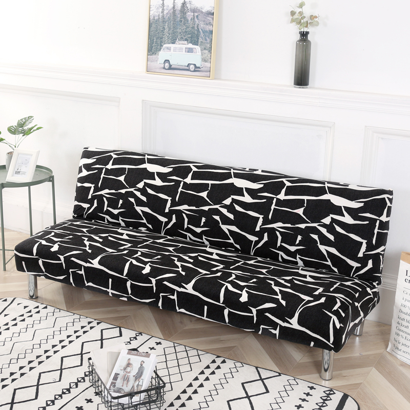 Folding Sofa Bed Cover Sofa Covers Spandex Stretch Elastic Material Double Seat Cover Slipcovers For Living Room Geometric Print
