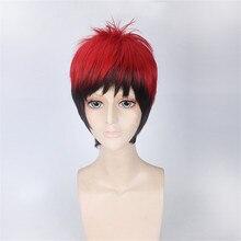 Красные черные Кагами Тайга, косплей парик Баскетбол куроко Омбре парики для мужчин Хэллоуин костюм волос