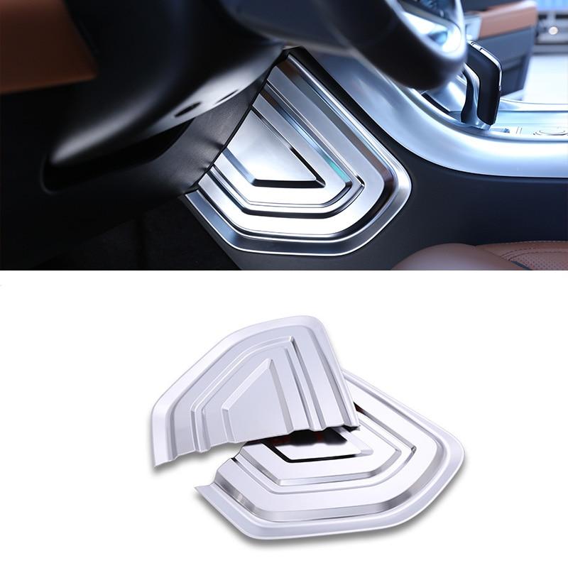 Chrome Car Contral Side U Shape Cover Frame Trim 3D Sticker For Range Rover Sport 2014