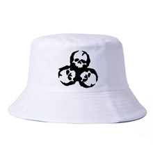 ZOMBIE Skull Biohazard Outbreak Walking Team Bucket Hats Unisex Hunting Fishing Outdoor Cap Men's Women's Summer Sun Hat outbreak