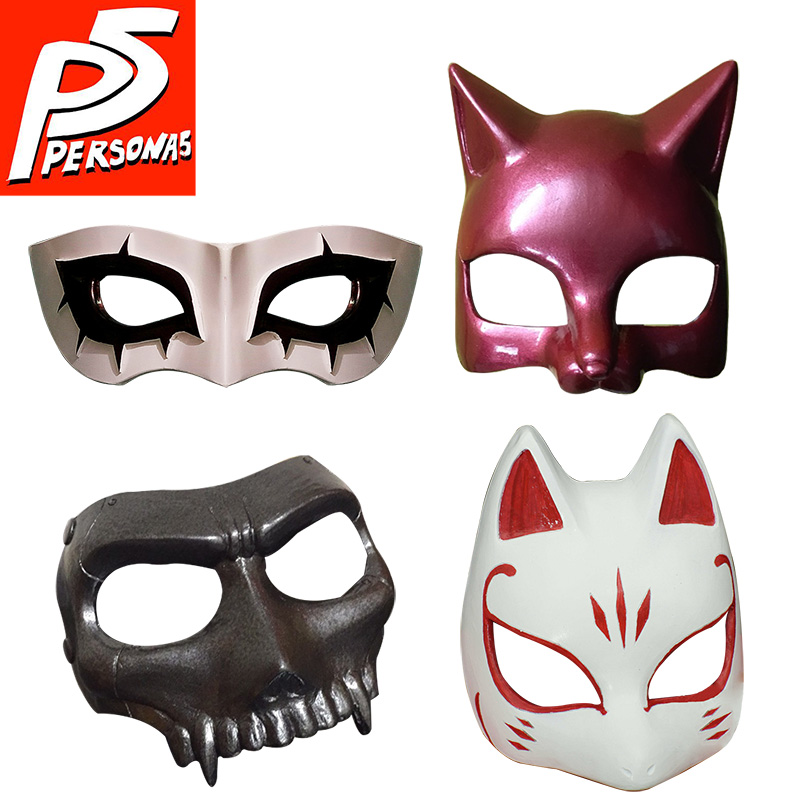 Persona 5 Mask Cosplay Joker Eye Mask Anne Takamaki Panther Mask Ryuji Sakamoto Skull Yusuke Kitagawa Fox Goro Akechi Costume-in Boys Costume Accessories from Novelty & Special Use