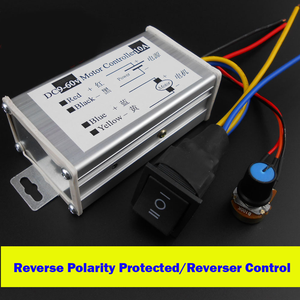 12v 24v 36v 48v Pwm Dc Motor Speed Regulator With Reverse Polarity Ac Control Circuit Reversing Protected Positive Inversion Switch Module In Controller From Home