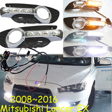 Car-styling,Lancer daytime light,2008~2016,Lancer EX,chrome,LED,Free ship!2pcs,car-detector,Lancer fog light,car-covers