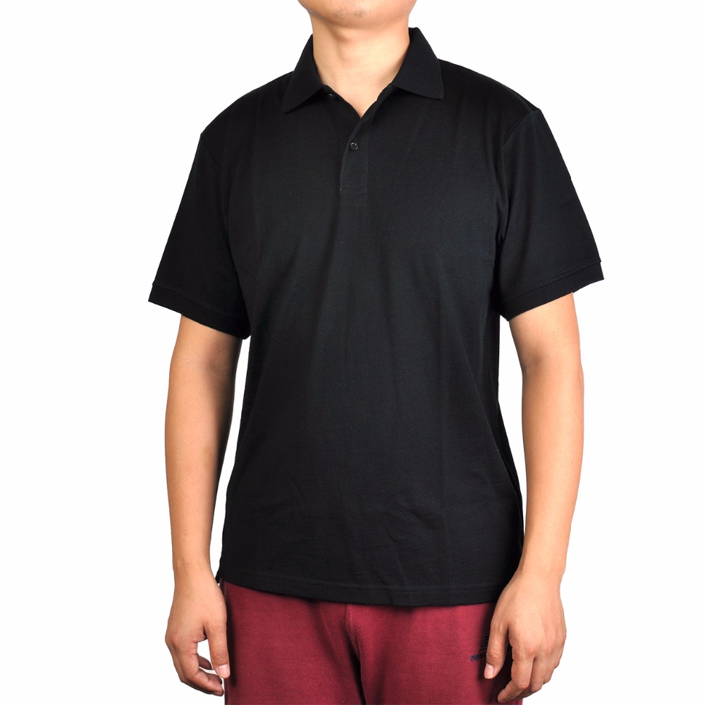 Men's 100% New Merino Wool Short Sleeve blak   POLO   Shirt Out Door Lightweight Tee Lapel Turn-down V Collar Button