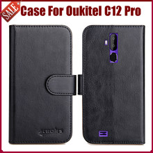 Venda quente! Oukitel C12 Pro Case New Chegada Cores de Alta Qualidade Leather flip Capa Protetora Para Oukitel 6 C12 Pro Caso