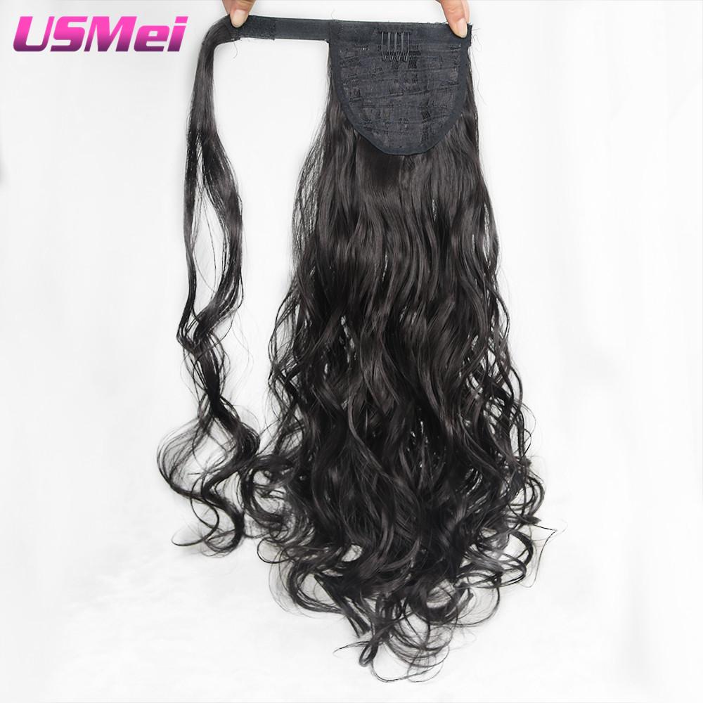 Usmei 26 Inches Bouncy Curly Ponytail Synthetic Artificial Tress