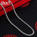 Beier new store 100% 925 silver sterling necklaces pendants trendy fine jewelry chains necklace for women/men  BR925XL031