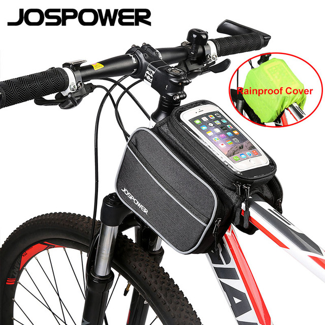 JOSPOWER 6.0 Inch Touch Screen Bicycle Cellphone Bag Polyester High Quality Front Frame Bike Bag Equipment Big Capacity
