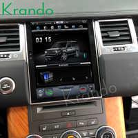 """Radio samochodowe Krando Android 4.4 10.4 """"pionowy ekran dotykowy Tesla dla Range rovera 2011-2013 system nawigacji gps"""