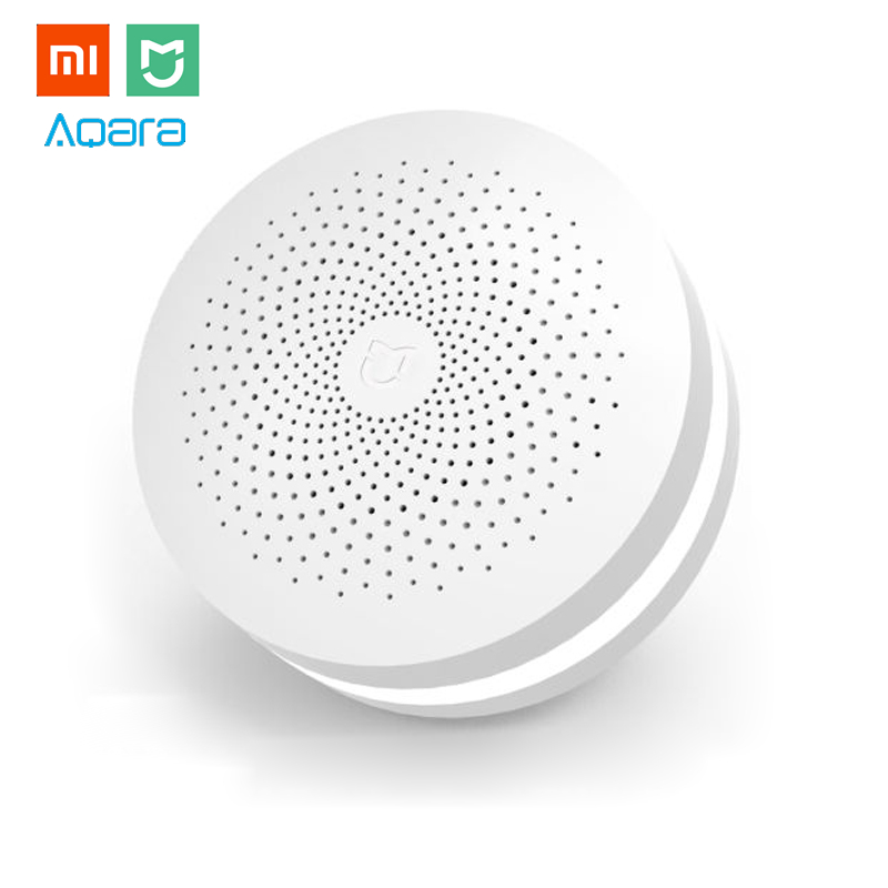 Xiaomi MIJIA Upgraded ZigBee Version Gateway Smart Home Kit Multifunctional Hub Remote Controller Centor Support Yeelight Aqara holographic belt purse
