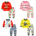 Bebê Menina/meninos dos desenhos animados roupa dos miúdos desgaste Do Sono Conjunto de roupas crianças dos desenhos animados Pijamas de algodão Terno crianças outono inverno Roupas Íntimas Femininas