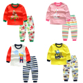 baby Girl/boys cartoon kids clothes Sleep wear  cotton clothing Set children cartoon Pajamas Suit  kids  autumn winter Underwear