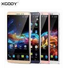 Xgody y14 смартфон 6 дюймов 3 г две сим разблокирована мобильного телефона Quad Core 512 МБ + 8 ГБ 5.0MP Камера GPS WiFi Сотовый Телефон