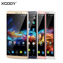 Xgody Y14 смартфон 6 дюймов 3 г Dual SIM разблокирована мобильного телефона Android 5.1 Quad Core 1 ГБ + 8 gb 5.0MP Камера GPS WIFI сотовый телефон