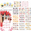 2015 NEW 50PCS/lotBLE488-498 Cartoon Duck Bear Art Stickers  Design With Popular Character Nail Sticker Water Transfer