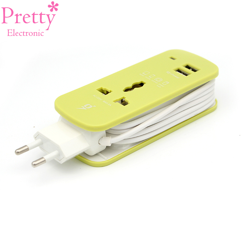 EU Plug Socket Electrical Dual USB Universal World Charger Adapter All in Travel Or At Home Extension Socket Easy To Carry