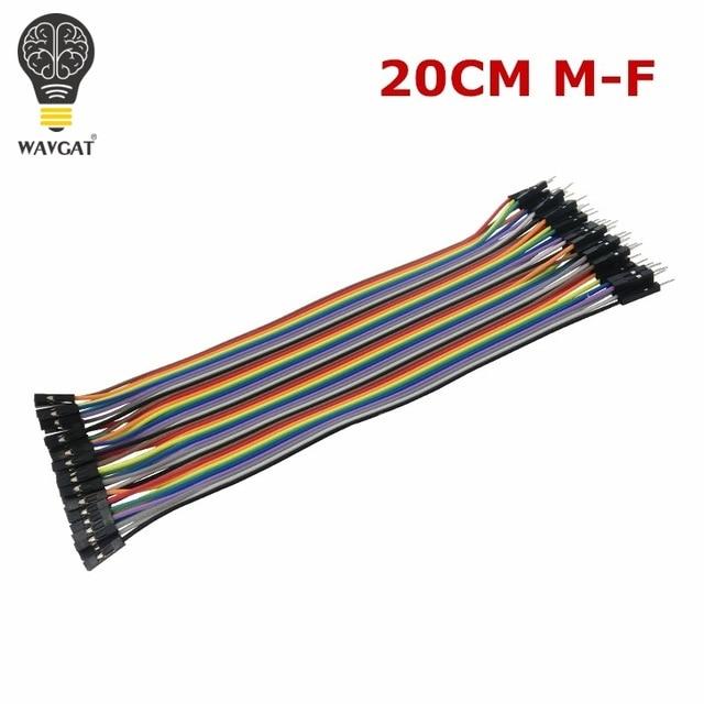 WAVGAT Dupont line 120 шт. 20 см мужской+ мужской женский и Женский Соединительный провод Dupont кабель для Arduino - Цвет: FM20CM