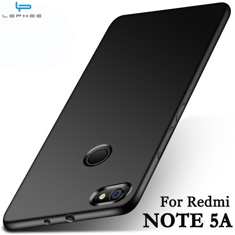 LEPHEE Xiaomi Redmi Note 5A Case Redmi Note 5A Pro Cover Matte TPU Silicone Soft Back Phone ...