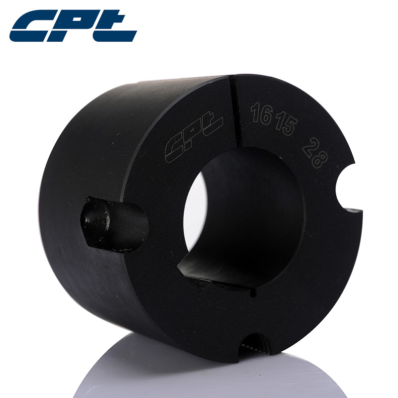 CPT 1615 quality assurance tapered bushing, 12-42mm bore diameter, cast iron GG20 material, Black phosphating surface treatment