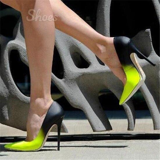 Stiletto Mariage Chaussures Escarpins Pompes Sexy Femme Couleur Mariée De Les 2019 As Hauts Mélangée Glissement Partie Picture Talons Sur Bureau EETrzA6Wq