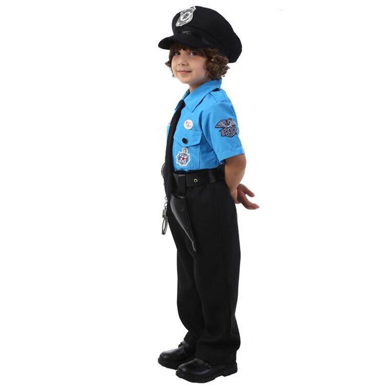 Çocuklar Cadılar Bayramı Polis Kostümleri çocuk Günü Erkek - Kostümler - Fotoğraf 5