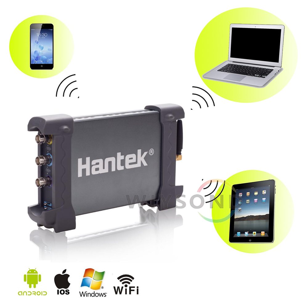 O111 Hantek iDSO1070A 2CH USB Digital Mini Oscilloscope WIFI support Android IOS Mobile phone / PAD Windows PC hantek idso1070a 2ch 70mhz bandwidth digital oscilloscope support iphone ipad android windows oscilloscope wifi communication